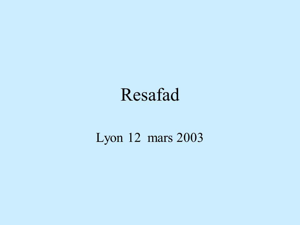 Resafad Lyon 12 mars 2003