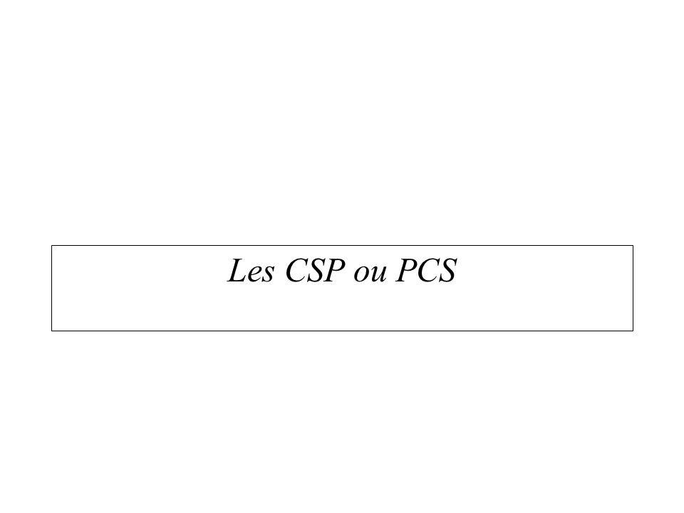 Les CSP ou PCS