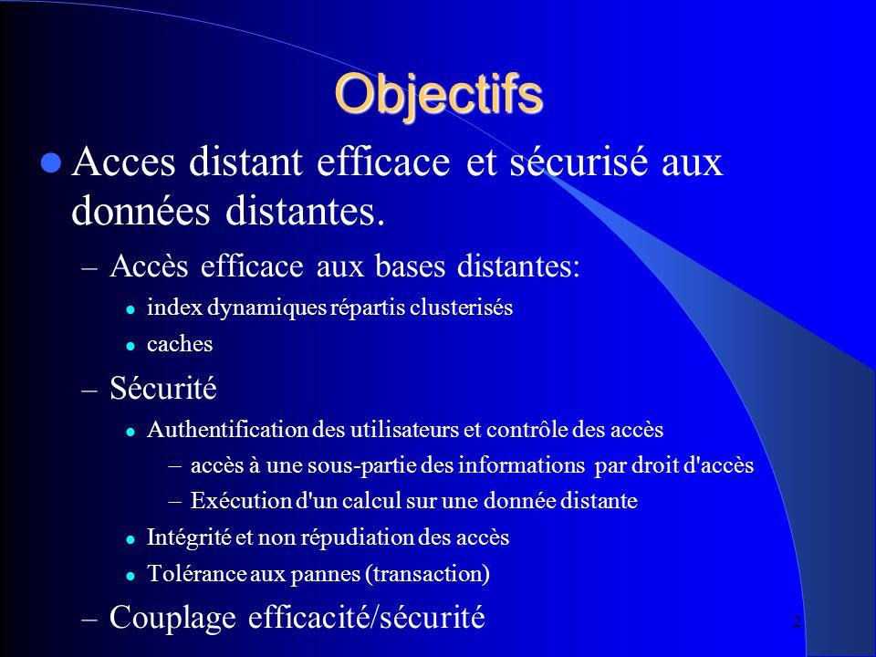 2 Objectifs Acces distant efficace et sécurisé aux données distantes.