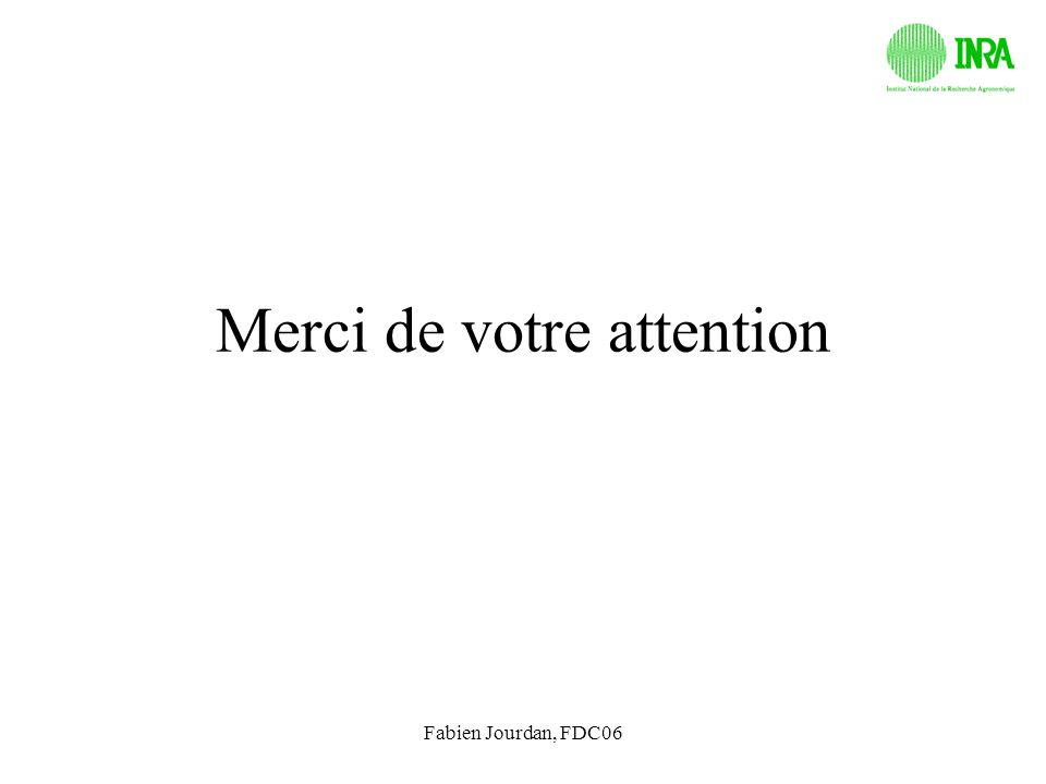 Fabien Jourdan, FDC06 Merci de votre attention