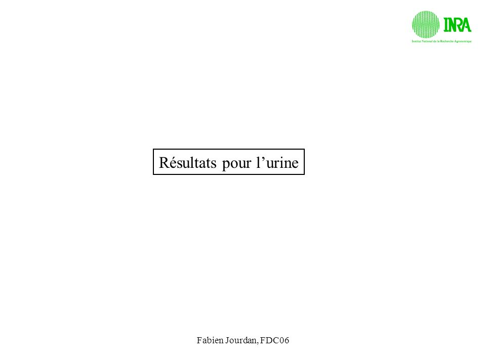 Fabien Jourdan, FDC06 Résultats pour lurine