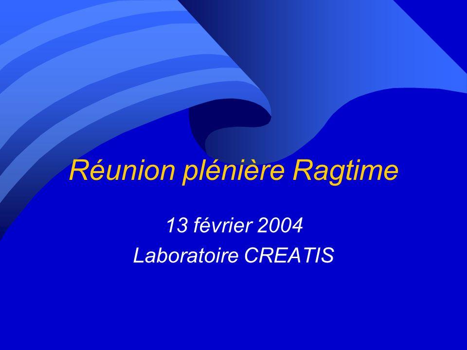 Réunion plénière Ragtime 13 février 2004 Laboratoire CREATIS