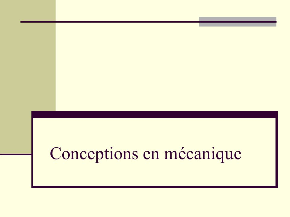 Conceptions en mécanique