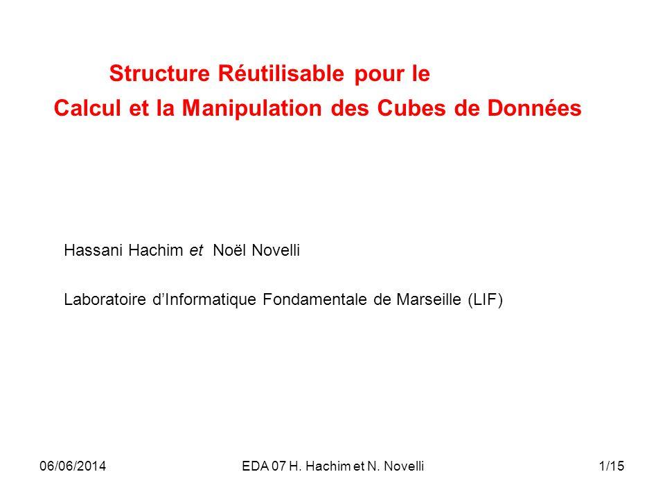 1/1506/06/2014EDA 07 H. Hachim et N. Novelli Hassani Hachim et Noël Novelli Laboratoire dInformatique Fondamentale de Marseille (LIF) Structure Réutil