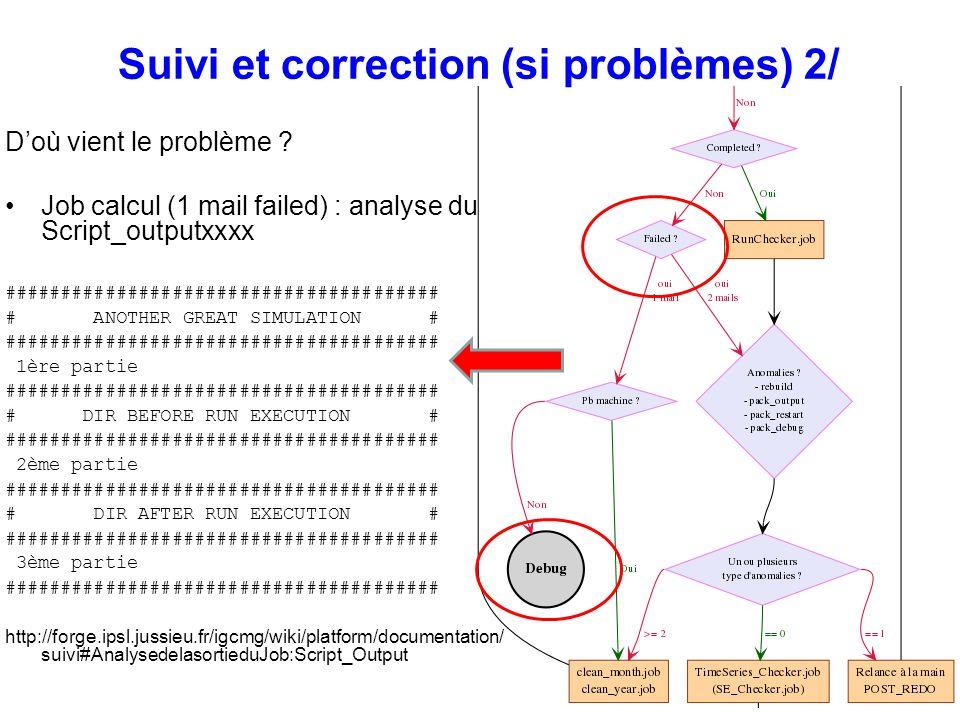 Suivi et correction (si problèmes) 2/ Doù vient le problème ? Job calcul (1 mail failed) : analyse du Script_outputxxxx ##############################