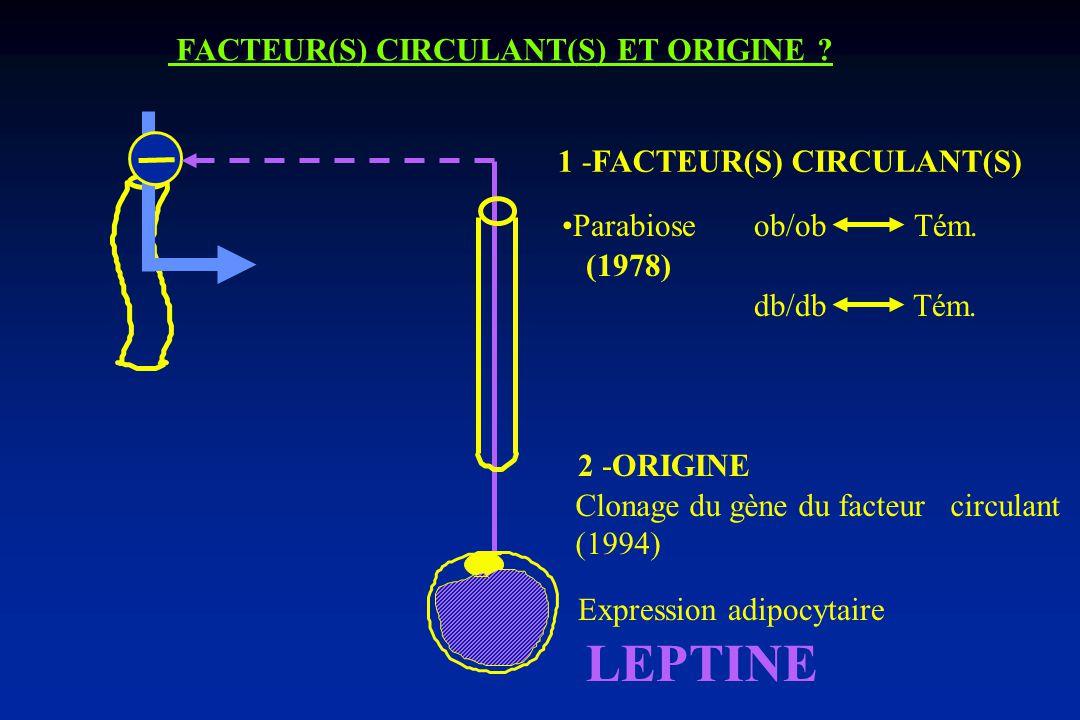 FACTEUR(S) CIRCULANT(S) ET ORIGINE .1 -FACTEUR(S) CIRCULANT(S) db/db Tém.