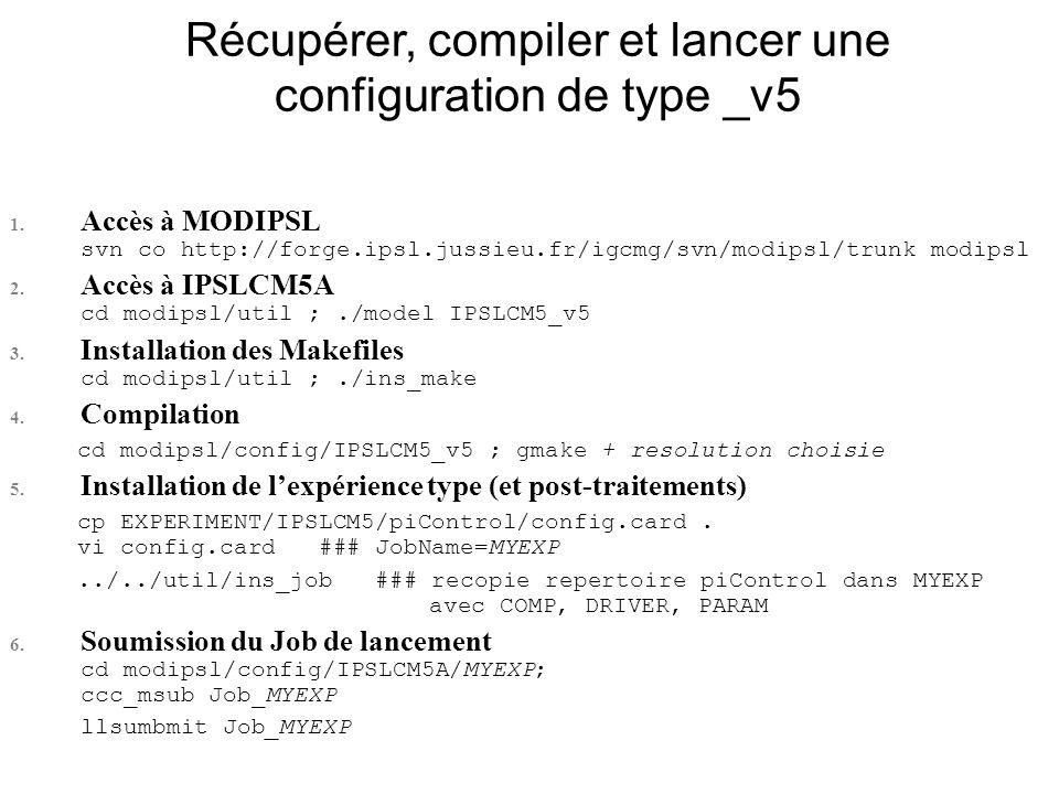 Récupérer, compiler et lancer une configuration de type _v5 1.