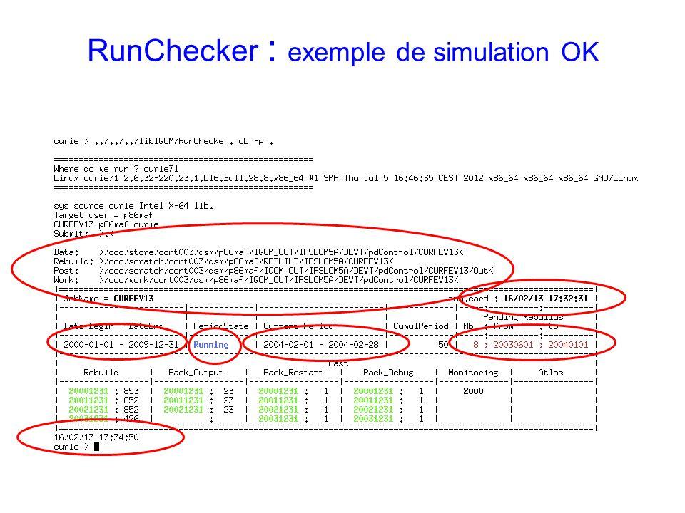 RunChecker : exemple de simulation OK