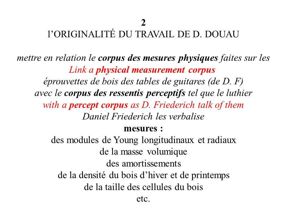 2 lORIGINALITÉ DU TRAVAIL DE D.