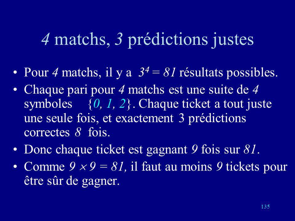 134 SPORT TOTO: le plus ancien code correcteur derreurs Un match entre deux équipes ou deux joueurs peut donner trois résultats: ou bien le joueur 1 g