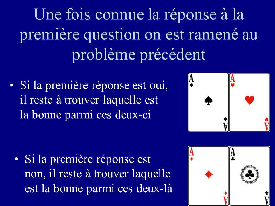 29 Première question: est-ce une de ces deux cartes?