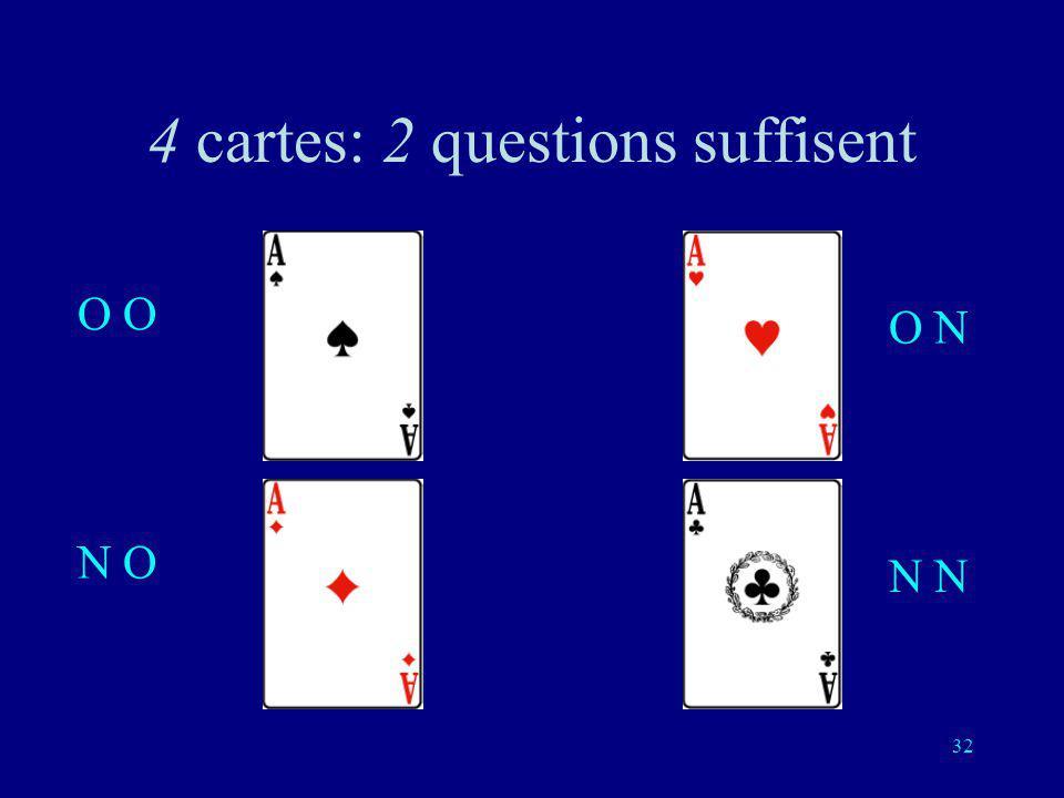 31 Deuxième question (indépendante de la première réponse): est-ce une de ces deux cartes?