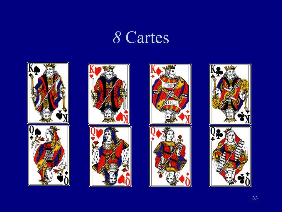 32 4 cartes: 2 questions suffisent O O N N O N