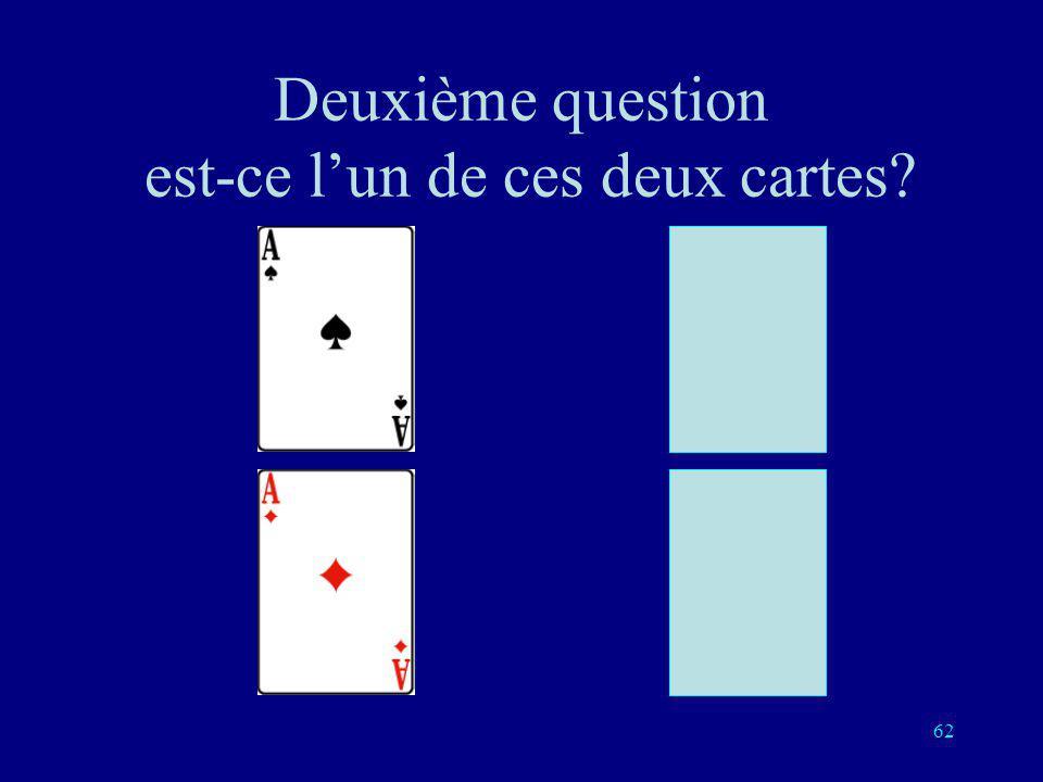 61 Première question: est-ce lun de ces deux cartes?