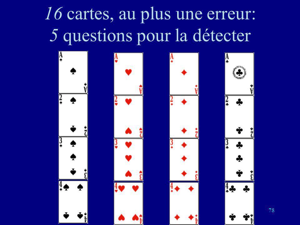 77 Quatrième question: Est-ce lun de ces cartes?