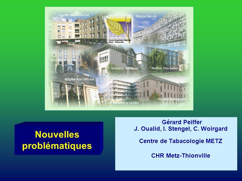 Nouvelles problématiques Gérard Peiffer J. Oualid, I. Stengel, C. Woirgard Centre de Tabacologie METZ CHR Metz-Thionville
