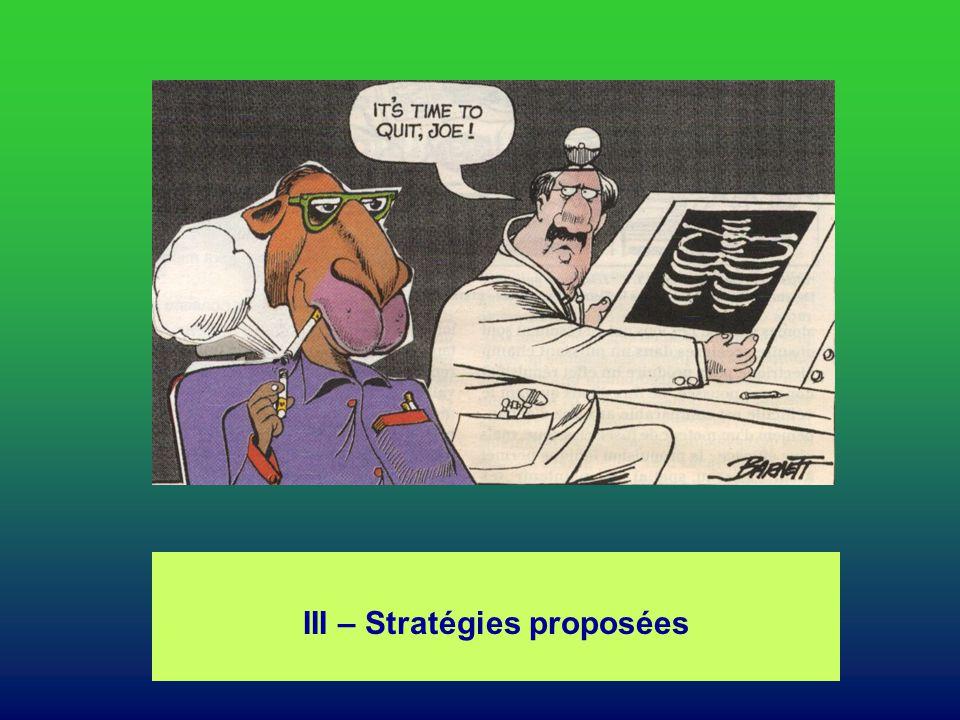 III – Stratégies proposées