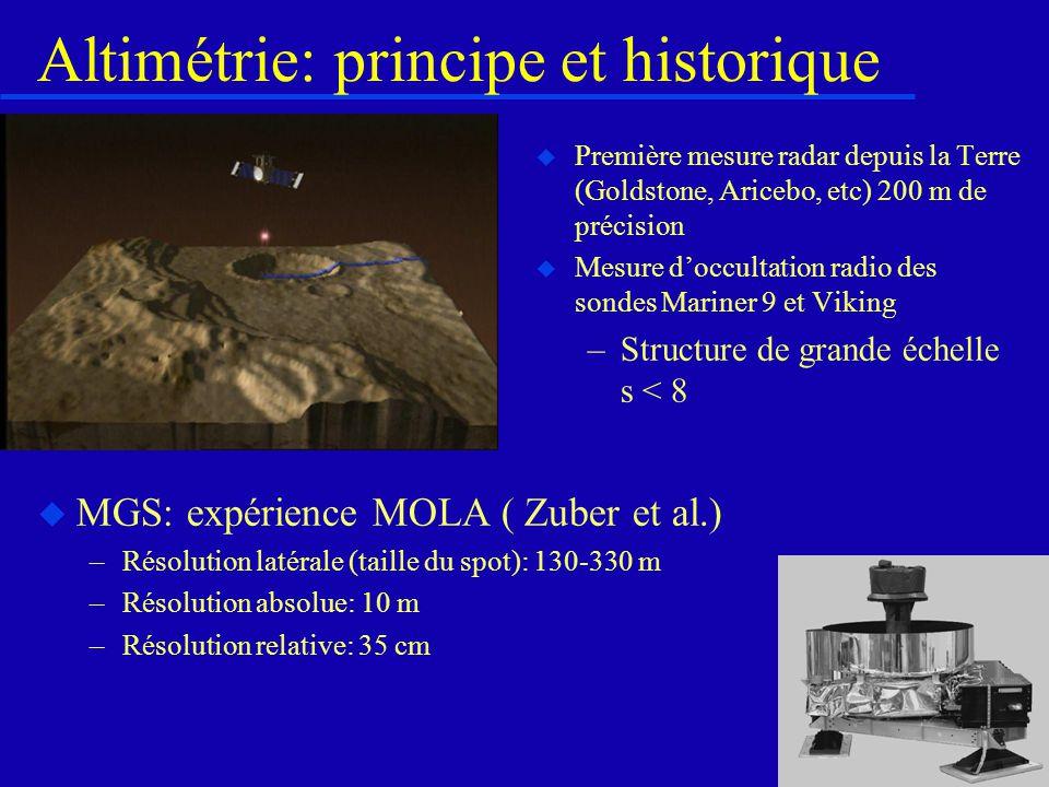 Mariner 9... Geoïde Altimétrie Anomalie de Bouguer