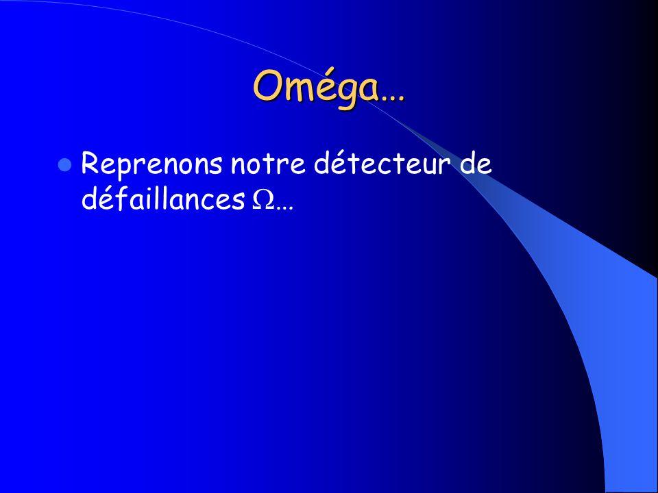 Oméga… Reprenons notre détecteur de défaillances …