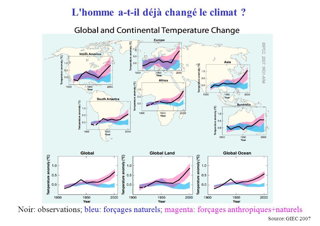 L homme a-t-il déjà changé le climat .