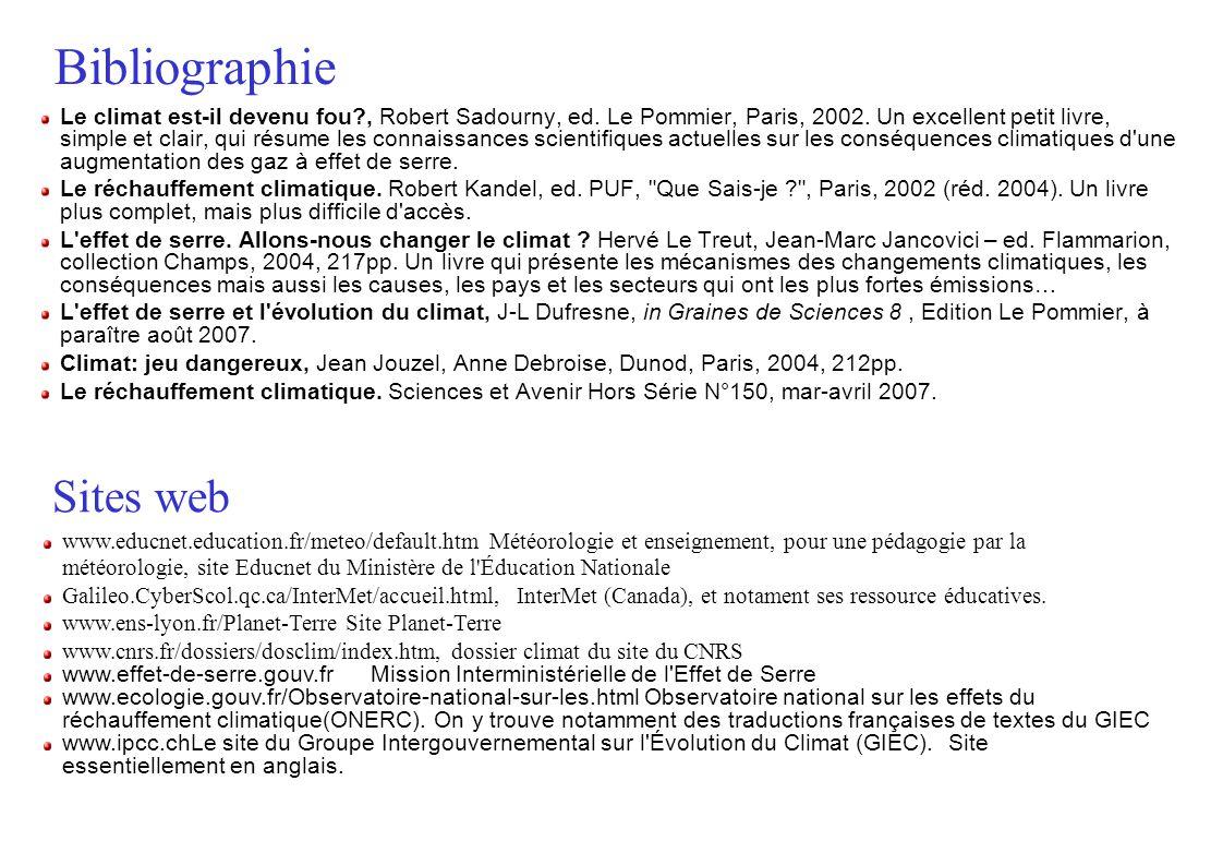 Bibliographie Le climat est-il devenu fou?, Robert Sadourny, ed.