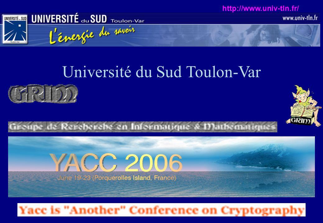Université du Sud Toulon-Var http://www.univ-tln.fr/