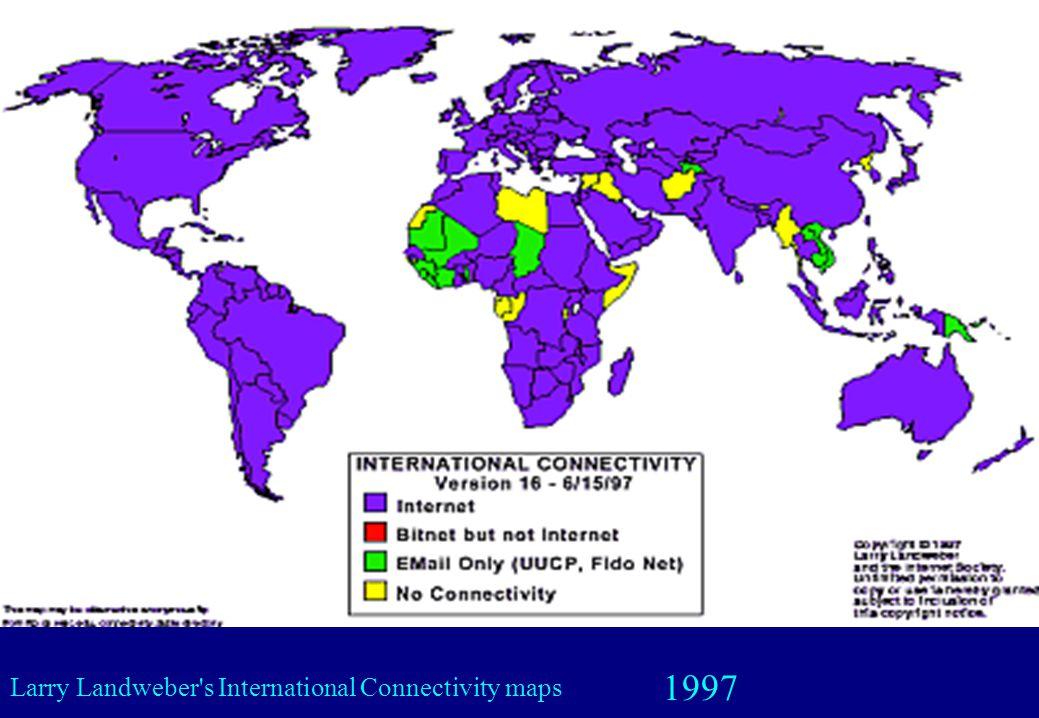 1997 Larry Landweber's International Connectivity maps