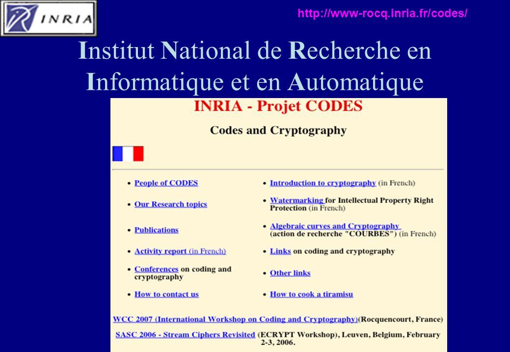 Institut National de Recherche en Informatique et en Automatique http://www-rocq.inria.fr/codes/