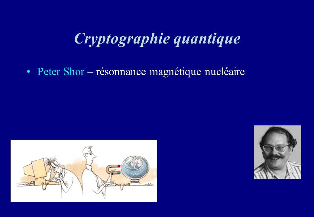Cryptographie quantique Peter Shor – résonnance magnétique nucléaire