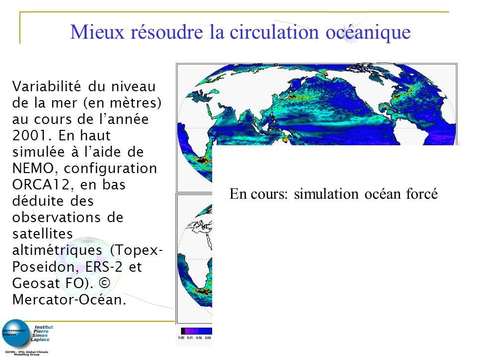 8 Variabilité du niveau de la mer (en mètres) au cours de lannée 2001.