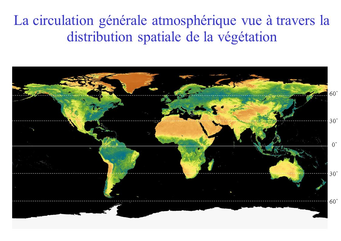 Température Atmosphère quasi-transparente: peu d émission et peu d absorbtion Equilibre radiatif global Profil de température fixé Ze: altitude démission vers lespace Les rayonnement émis est absorbé par l atmosphère avant d atteindre l espace Z Rayonnement solaire net dT/dz fixé par convection altitude Rayonnement IR sortant F s.T(z e ) 4 = F s FsFsFsFs