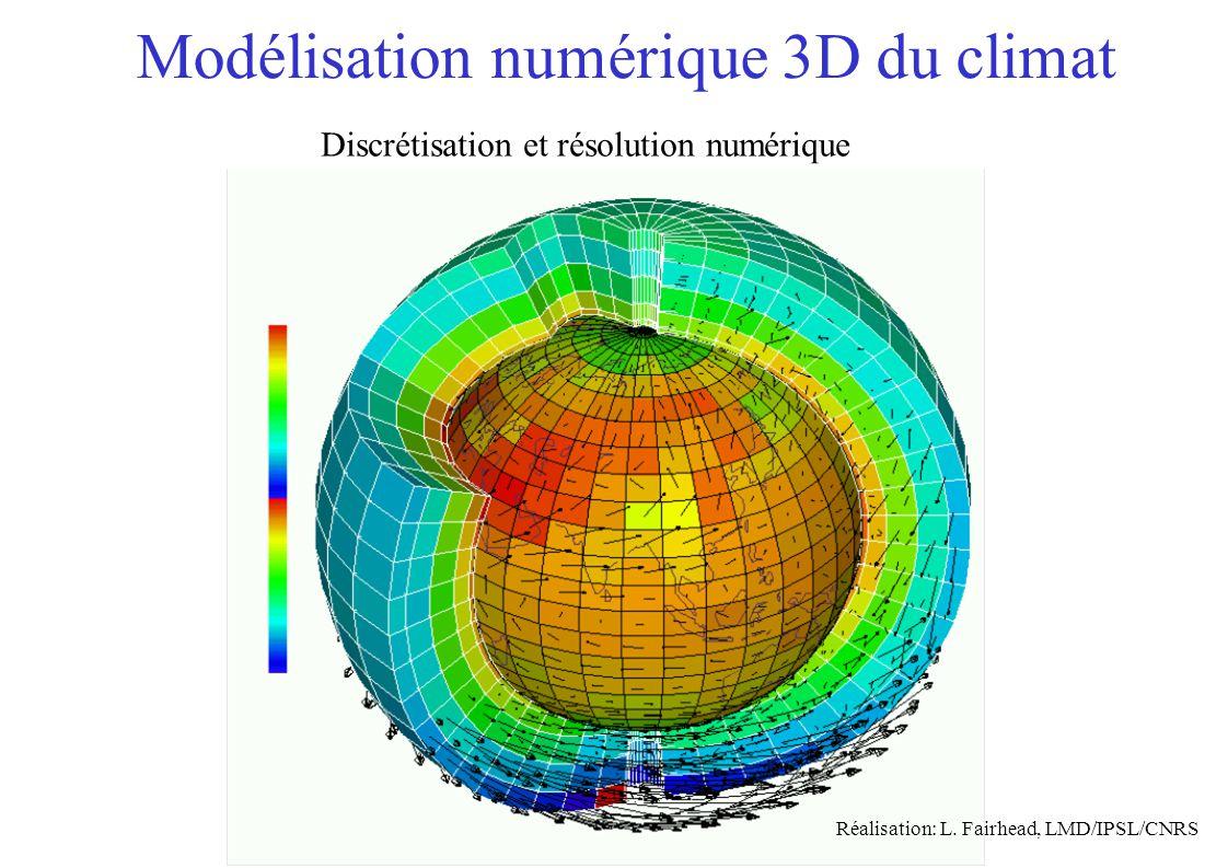 Modélisation numérique 3D du climat Réalisation: L.