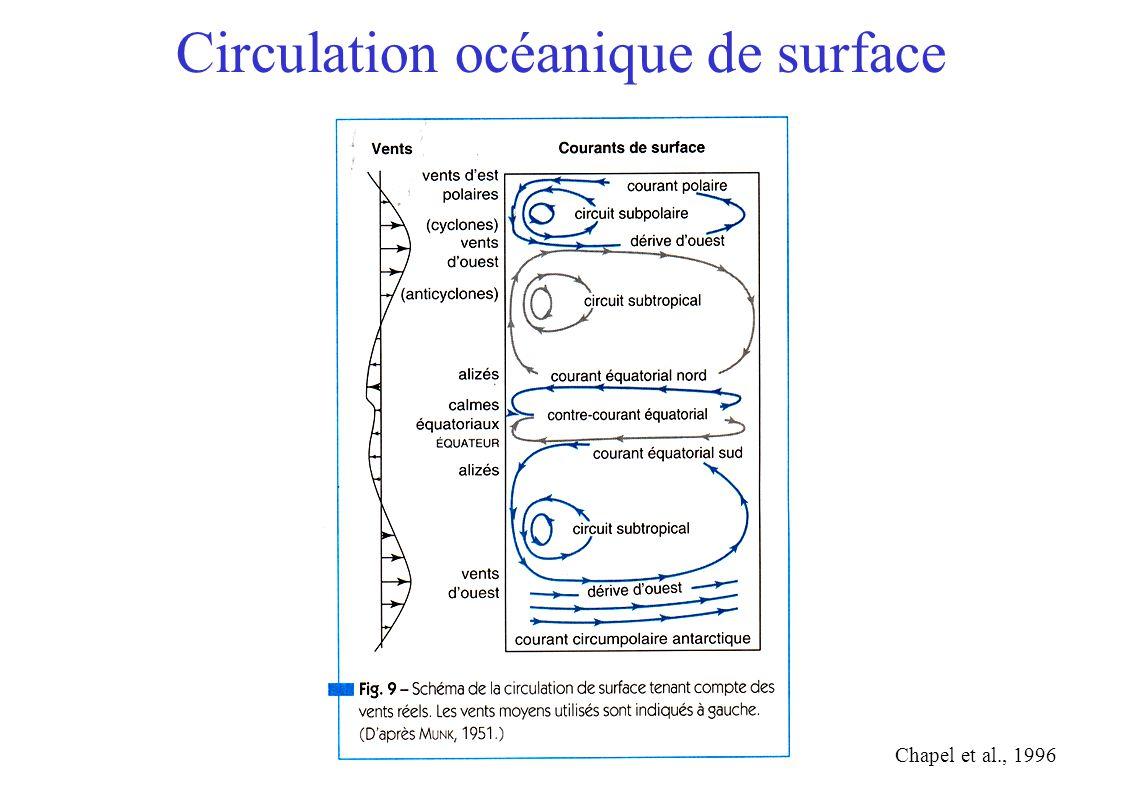 Circulation océanique de surface Chapel et al., 1996