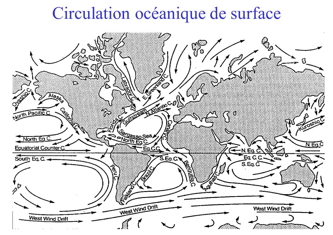 Circulation océanique de surface