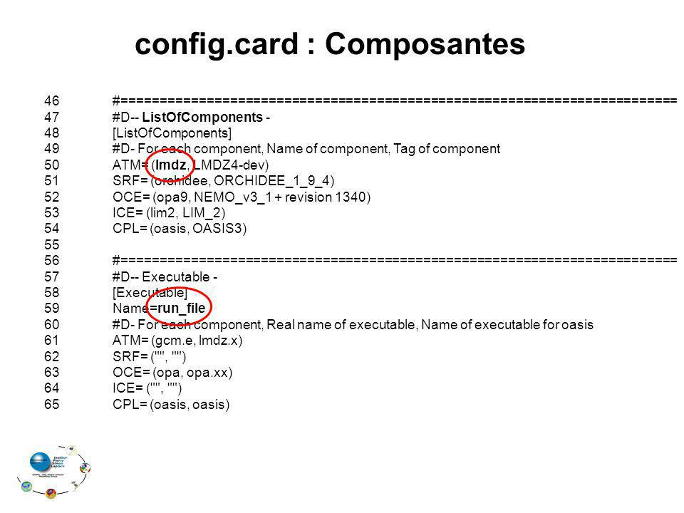config.card : Composantes 46#======================================================================== 47#D-- ListOfComponents - 48[ListOfComponents] 4