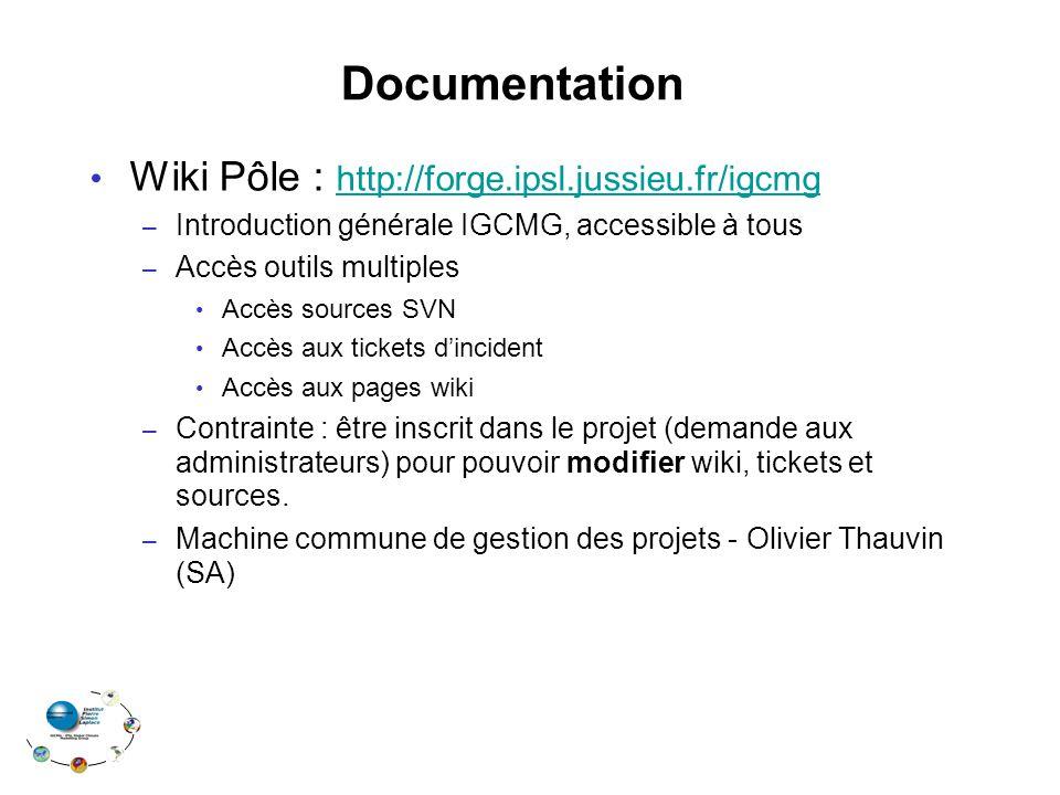 Documentation Wiki Pôle : http://forge.ipsl.jussieu.fr/igcmg http://forge.ipsl.jussieu.fr/igcmg – Introduction générale IGCMG, accessible à tous – Acc