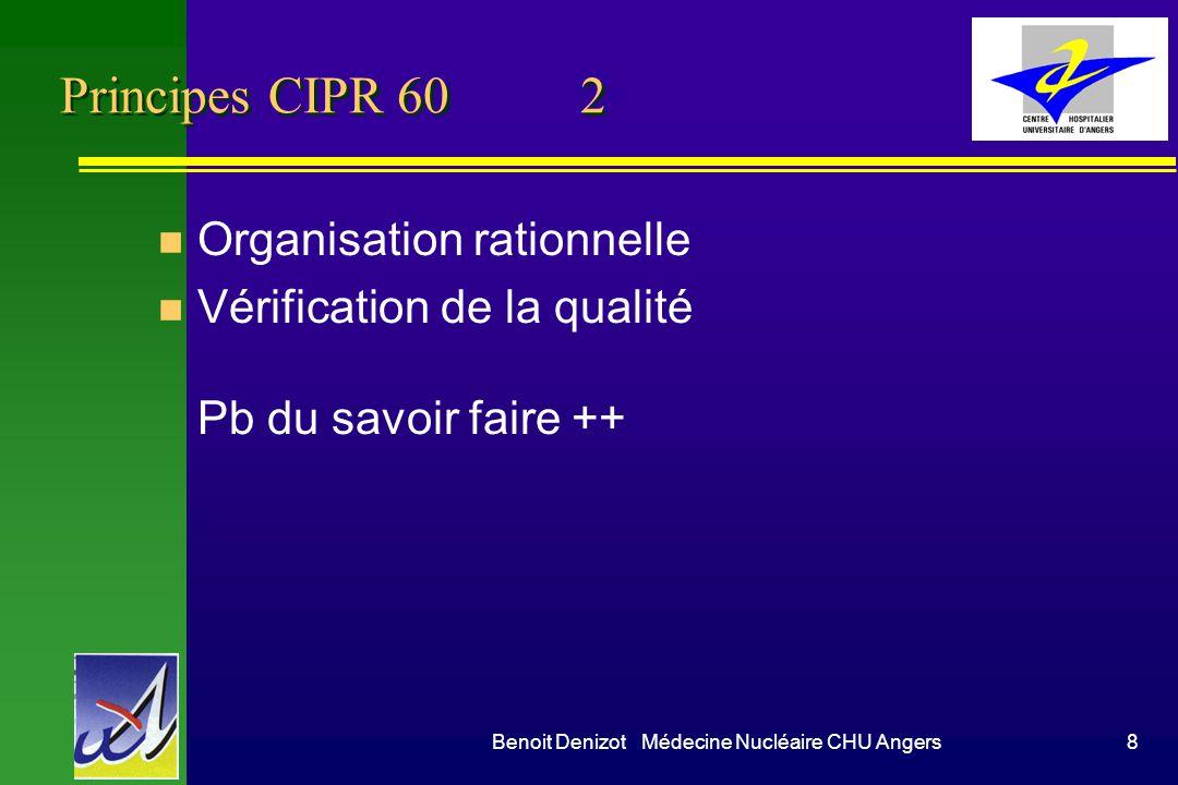 Benoit Denizot Médecine Nucléaire CHU Angers9 Doses individuelles en mSv 10 km/h sur autoroute en Suisse Euratom 96-29 97-43