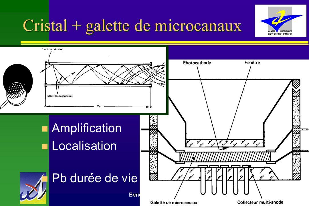 Benoit Denizot Médecine Nucléaire CHU Angers28 Cristal + galette de microcanaux n Amplification n Localisation n Pb durée de vie