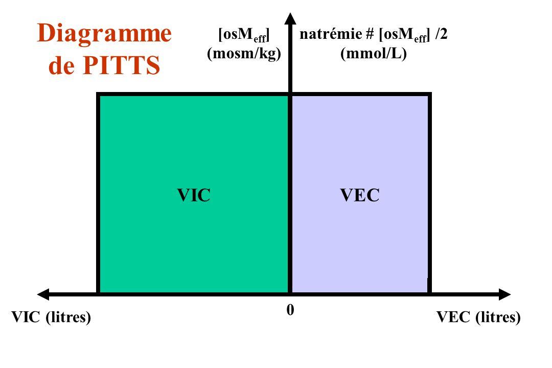perturbation initiale équilibre Résultat : Lapport hydrique se répartit dans les deux compartiments au prorata de leurs volumes.