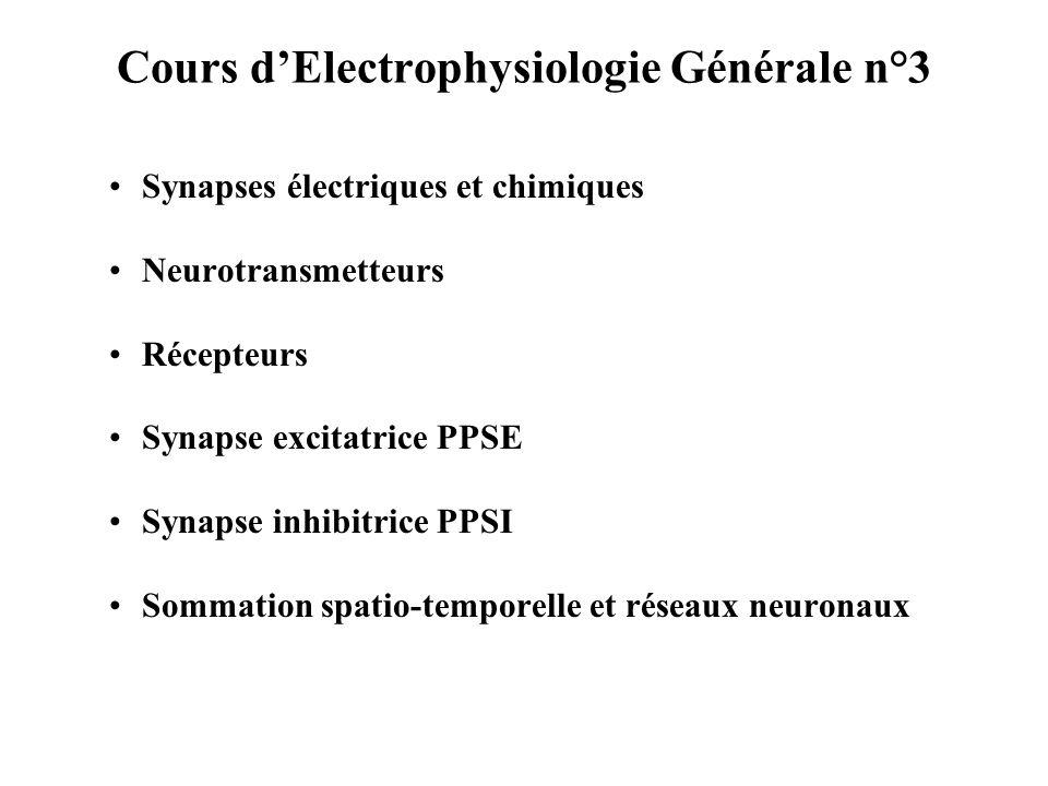 Cours dElectrophysiologie Générale n°3 Les canaux Calcium daprès Neurobiologie Cellulaire C.
