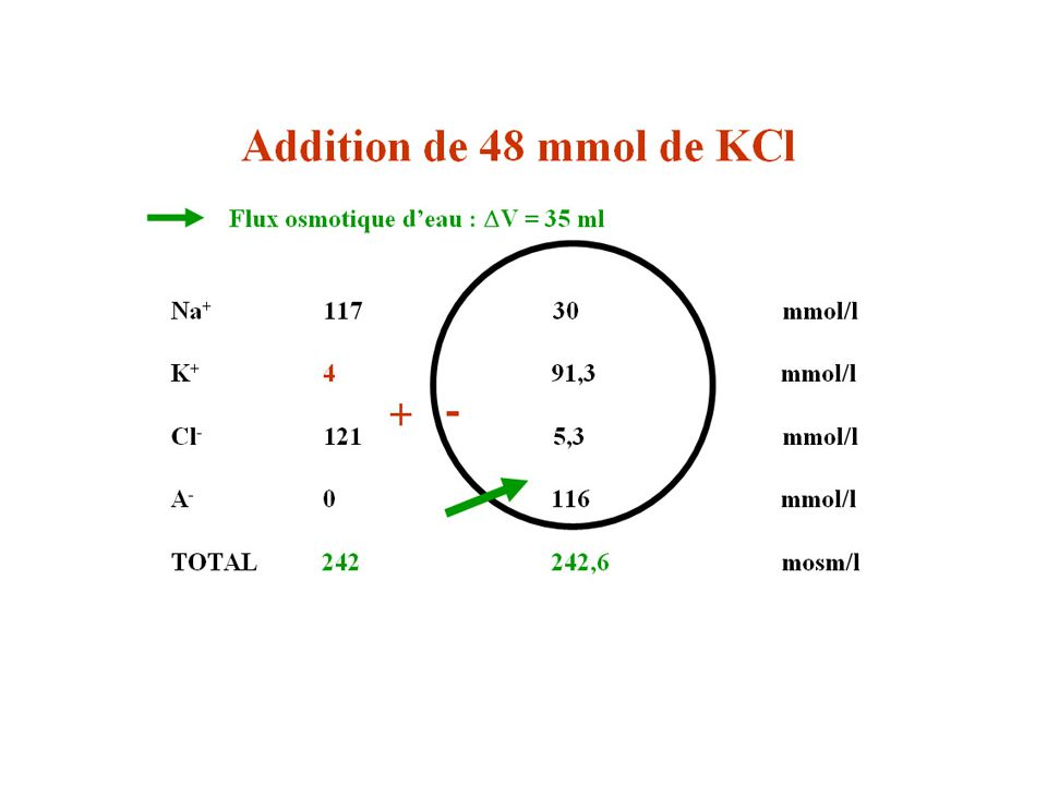 Addition de KCI 2