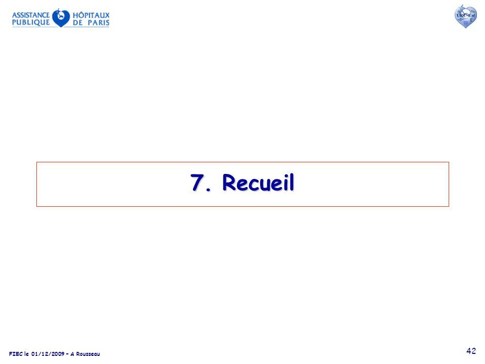 FIEC le 01/12/2009 – A Rousseau 42 7. Recueil