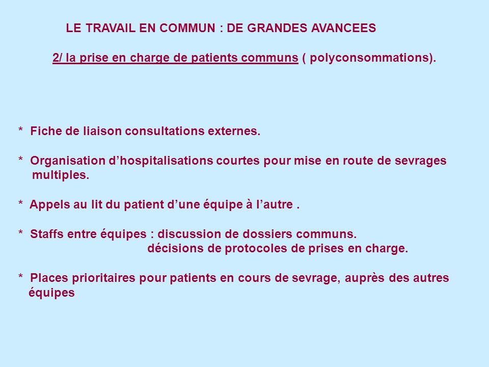 LE TRAVAIL EN COMMUN : DE GRANDES AVANCEES 3/ La mise en place de dispositifs destinés à des populations spécifiques * Patients en situation de précarité souhaitant quitter le tabac.