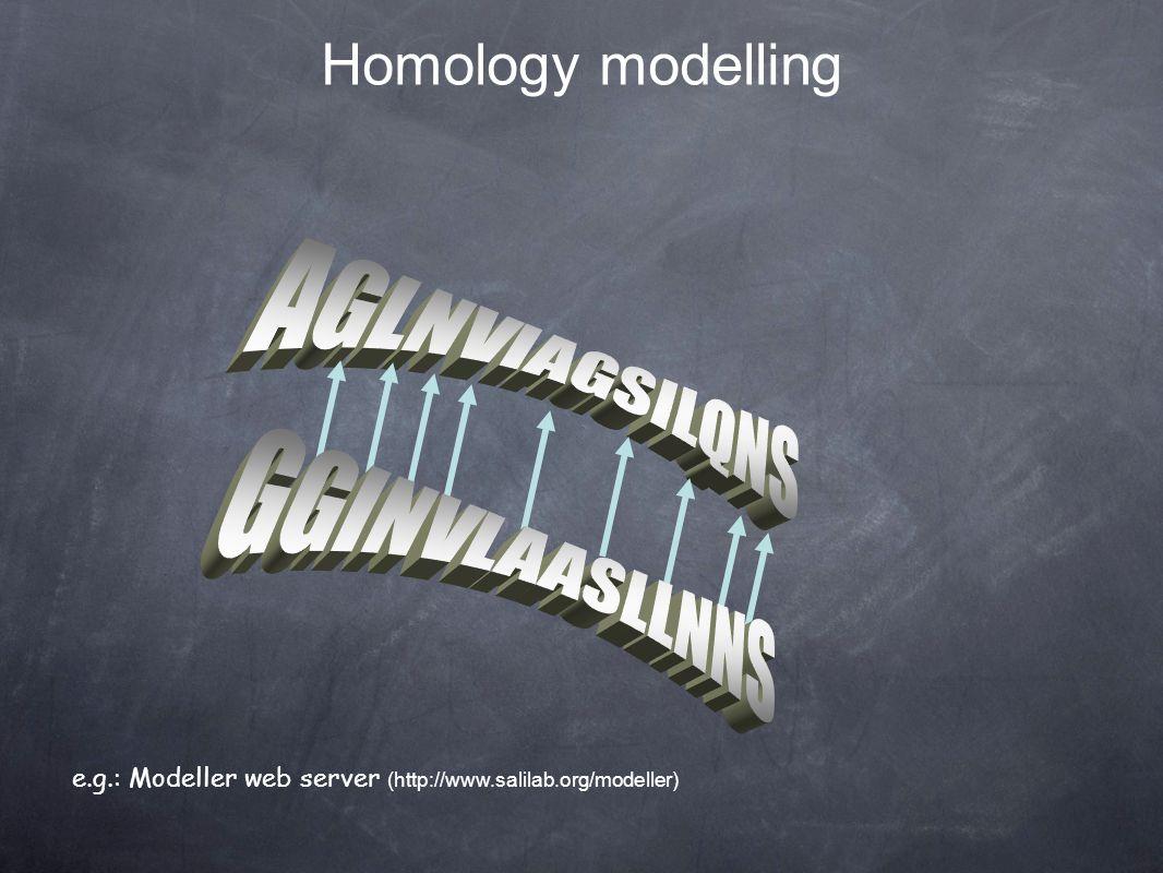 e.g.: Modeller web server (http://www.salilab.org/modeller) Homology modelling