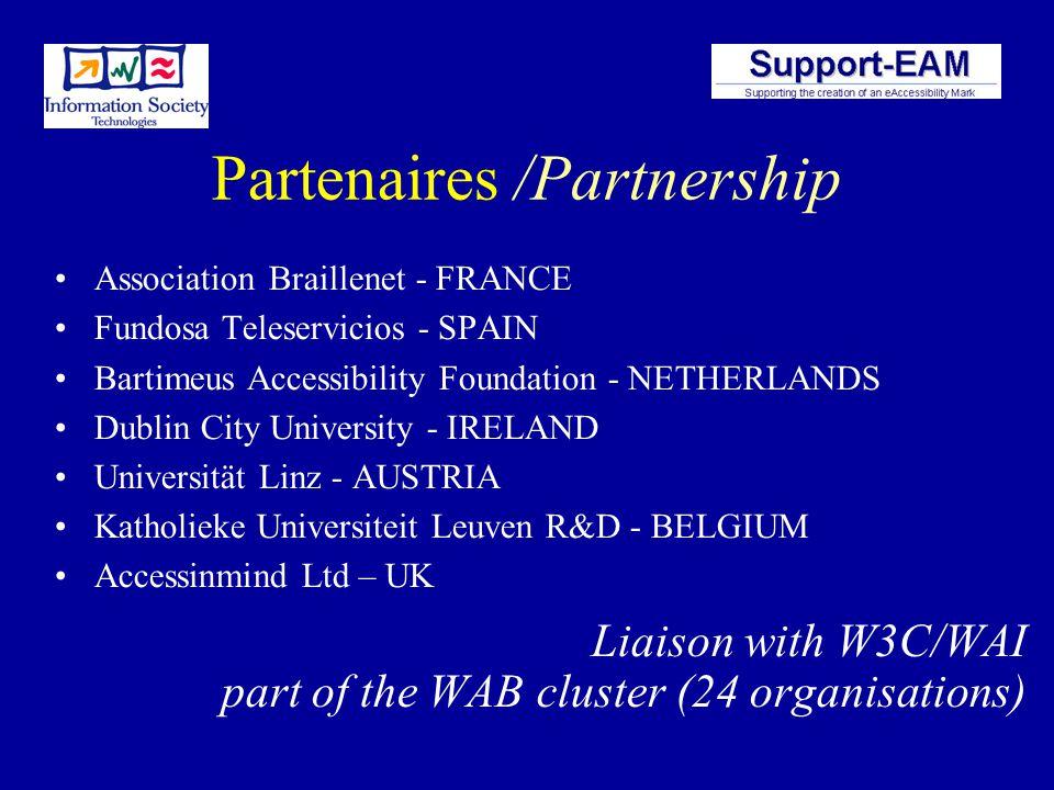 Objectifs /Objectives 1.Méthode harmonisée pour évaluer laccessibilité du Web Harmonised method for evaluating Web Accessibility 2.Recommandations pou