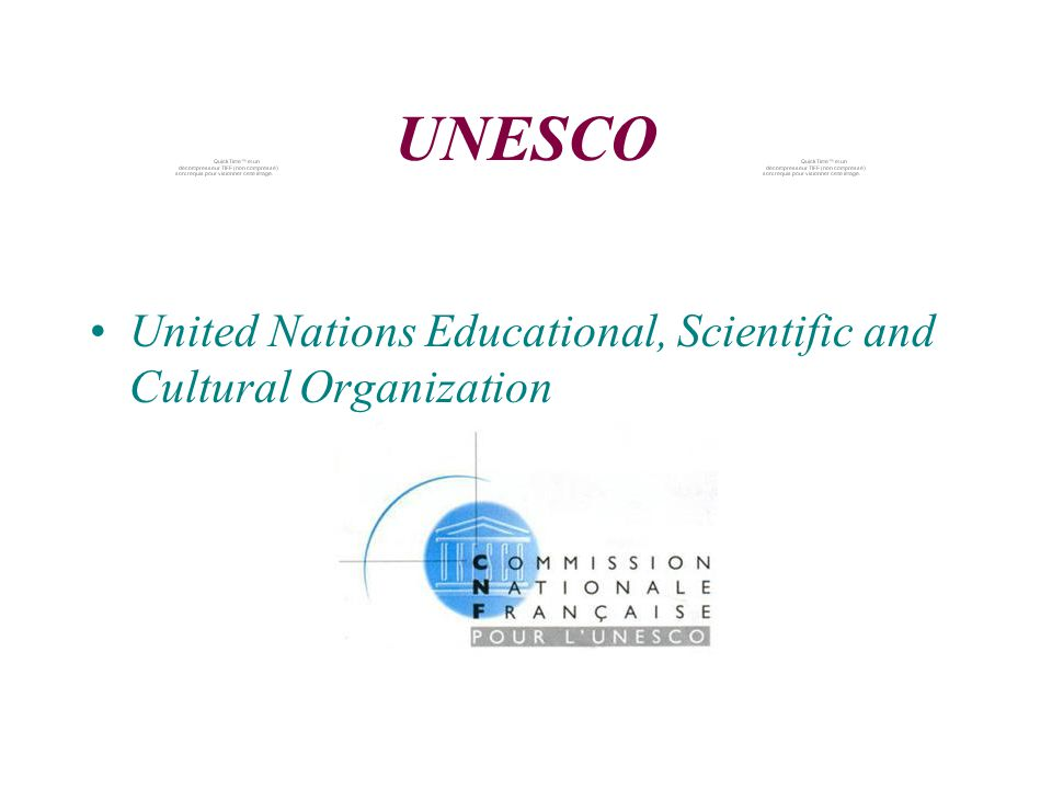 UNESCO United Nations Educational, Scientific and Cultural Organization