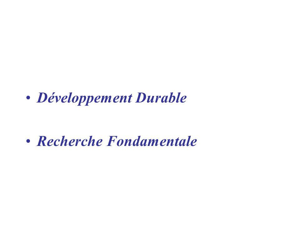 Développement Durable Recherche Fondamentale