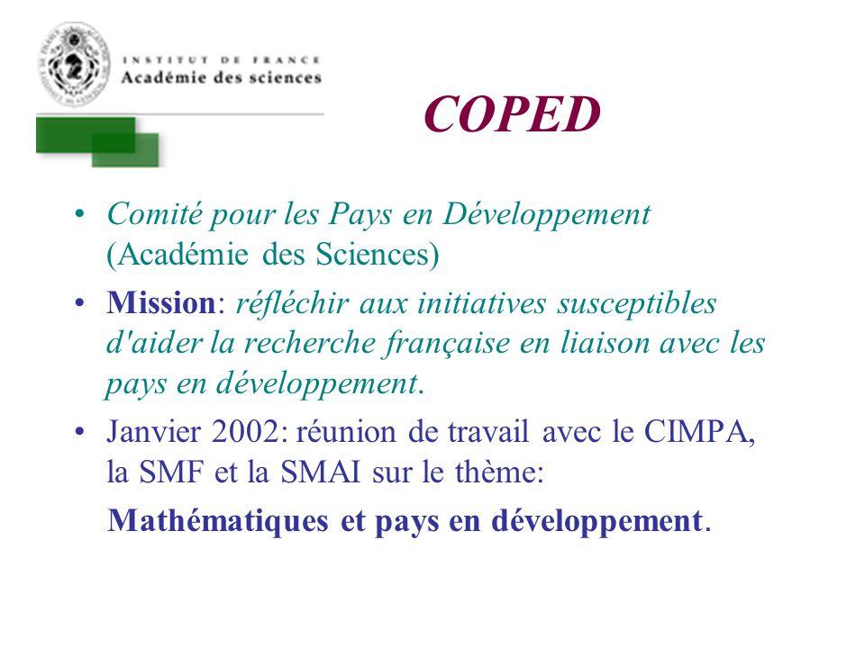 Conclusions Il y a place pour une coopération forte basée sur les structures universitaires.