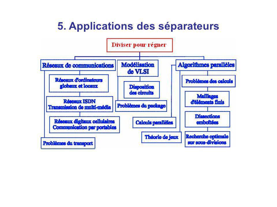5. Applications des séparateurs