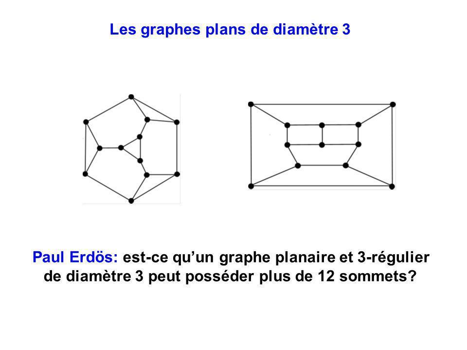 Les graphes plans de diamètre 3 Paul Erdös: est-ce quun graphe planaire et 3-régulier de diamètre 3 peut posséder plus de 12 sommets?